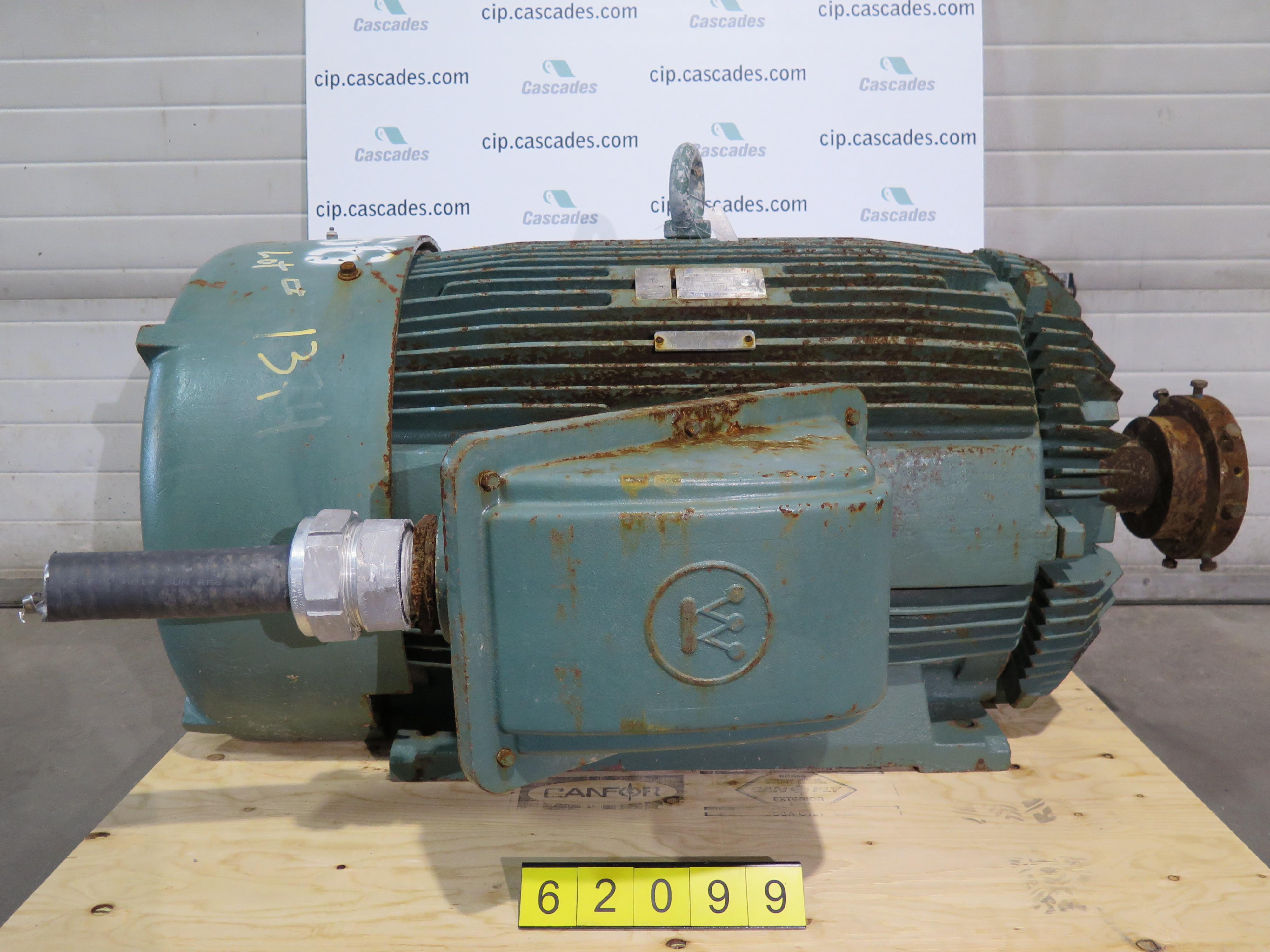 Used Electric Motor Ac Westhinghouse 200 Hp 1200