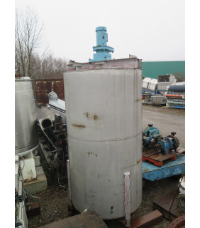 """USED TANK - 650 GAL - 4' X 7' STAINLESS STEEL (48"""" X 84"""") - AGITATOR MIXING TANK - FOR SALE"""