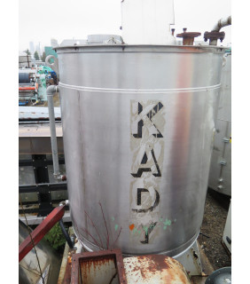 """USED INDUSTRIAL MIXER - BOTTOM ENTRY INDUSTRIAL MILLS - KADY - MAX 600 GAL - 51"""" X 70"""" STAINLESS STEEL - FOR SALE"""
