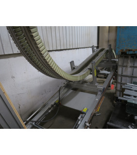 USED - WEDGE CONVEYOR - S SHAP - ELEVATOR OR LOWERATOR - FOR SALE