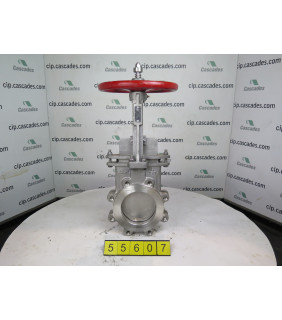 """FOR SALE - KNIFE GATE VALVE - 6"""" - NAQIP - MANUAL - RESILIENT SEAT"""