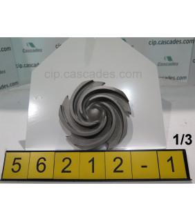 1 of 3 - IMPELLER - GOULDS 3196 STX - 1 x 1.5 - 8 - Item 101 - Parts #: 76779-1013