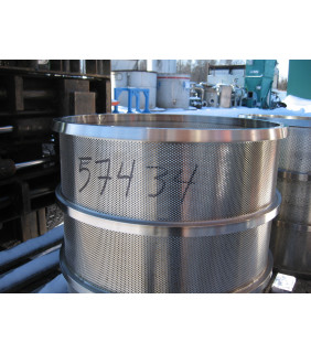 """BASKET HOLE 0.046"""" - 1.8 MM - VOITH 10 - PRESSURE SCREEN BASKET VOITH 10"""