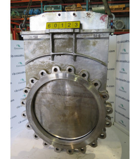 """KNIFE GATE VALVE - 24"""" - FLOW CONTROL - RESILIENT - USED"""
