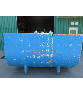 """TANK - 1000 GALLON - 8' x 4'9"""" x 4'3"""" U SHAPED STAINLESS STEEL - CREAMERY PACKAGE - MODEL: R1000 - DOUBLE WALL JACKETED - DOUBLE AGITATOR MIXING TANK"""