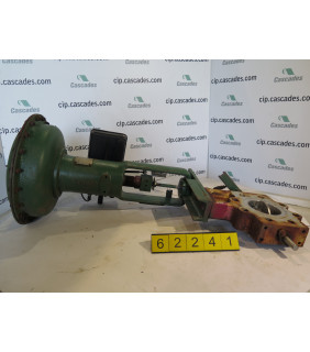 """BUTTERFLY VALVE - FISHER - 4"""" - USED"""
