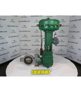 """BUTTERFLY VALVE - FISHER 9500 - 4"""" - USED"""