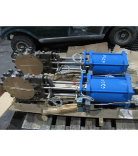 """KNIFE GATE VALVE - 10 """" - NAQIP - PNEUMATIC - RESILIENT SEAT"""