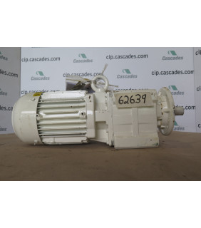MOTOR - AC -(GEARBOX) - BAUER - 1HP - 600 VOLTS - USED