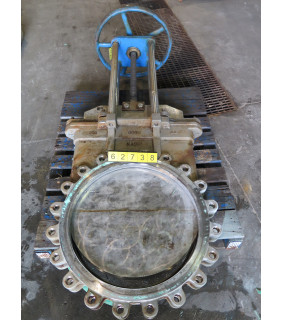 """KNIFE GATE VALVE - 24"""" - NAQIP - MANUAL - RESILIENT SEAT - USED"""