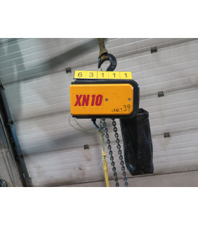 USED - ELECTRIC CHAIN HOIST - 2 TON - KONECRANES - XN 10 - FOR SALE