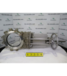 """KNIFE GATE VALVE - 10"""" - NPV - MANUAL - RESILIENT SEAT - USED"""