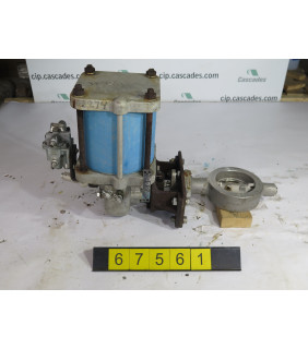 """BUTTERFLY VALVE - JAMESBURY WS-36 - 4"""" - USED"""
