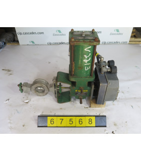 """BUTTERFLY VALVE - FISHER V100 - 2"""" - USED"""