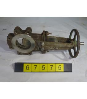 "KNIFE GATE VALVE - 4"" - FABRI - MANUAL - METAL SEAT - USED"