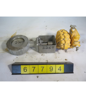"""1 OF 4 - BUTTERFLY VALVE - FLOWSEAL 04-1WA-222TTG-H0G - 4"""" - USED"""