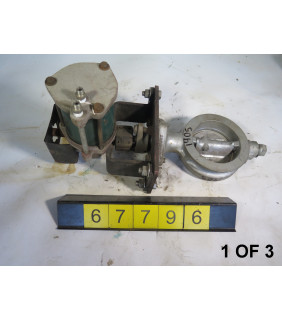 """1 OF 3 - BUTTERFLY VALVE - JAMESBURY P43 - 4"""" - USED"""