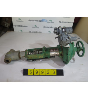 """LINEAR - GLOBE VALVE - FISHER D - 1"""" - USED"""