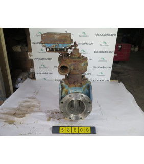 "PLUG VALVE - 3 WAY - DEZURIK 275 - 6"" - USED"