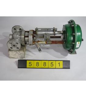 """LINEAR - GLOBE VALVE - FISHER FEV-B-2 - 1/2"""" - USED"""