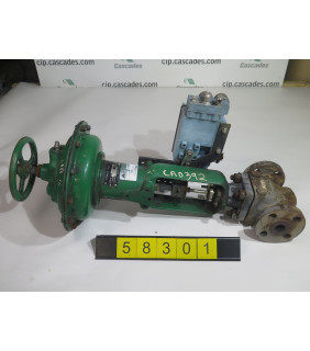 """USED GLOBE VALVE - FISHER CONTROLS TYPE: EZ - 1"""" - FOR SALE"""