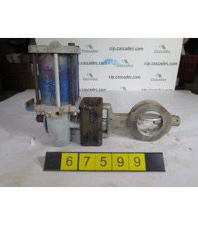 """BUTTERFLY VALVE - FISHER 1004-322-CA - 4"""" - USED"""