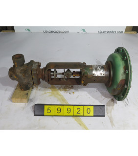"""1 OF 2 - LINEAR - GLOBE VALVE - FISHER - 1"""" - USED"""