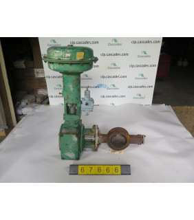 """BUTTERFLY VALVE - FISHER 1052 - 4"""" - USED"""