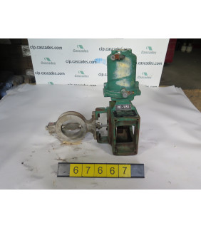 """BUTTERFLY VALVE - FISHER 1061 - 4"""" - USED"""