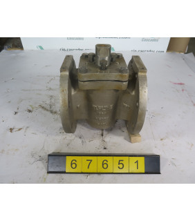 "PLUG VALVE SLEEVED - TUFLINE - 6"" - USED"