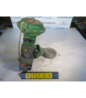 """BUTTERFLY VALVE - FISHER 5860 - 4"""" - USED"""