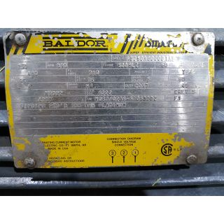 MOTOR - AC - BALDOR - 250 HP - 900 RPM - 480 VOLTS
