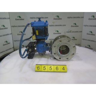 "V-BALL VALVE - DEZURIK - 4"" - USED"