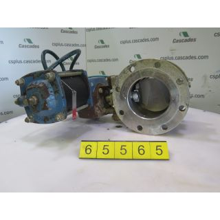 "V-BALL VALVE - DEZURIK 6"" - USED"
