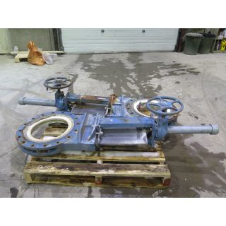 "KNIFE GATE VALVE - DEZURIK - 16"" - MANUAL - RESILIENT SEAT - USED"