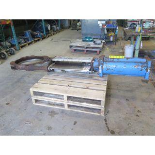 "KNIFE GATE VALVE - STAFSJO - 24"" - PNEUMATIC - RESILIENT SEAT"