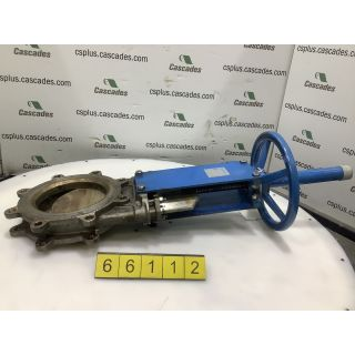 "KNIFE GATE VALVE - ORBINOX - 8"" - MANUAL - RESILIENT SEAT"