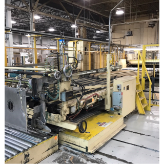Ward Die Cutter/Dual Curtain Coater Line