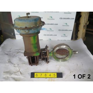 """1 OF 2 - BUTTERFLY VALVE - JAMESBURY - 8"""" - USED"""