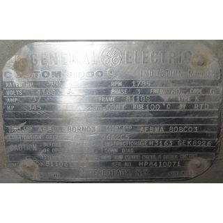 USED AC MOTOR FOR SALE - GENERAL ELECTRIC - 300 HP - 1800 RPM - 4160 VOLTS