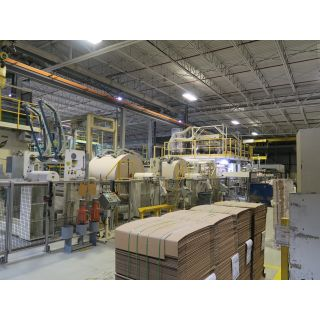 Fully Automatic Inter-Fold Facial Tissue Converting Machine + Automatic Transfer Unit + Log Saw - KG-223