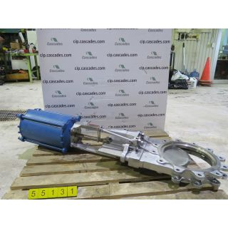"KNIFE GATE VALVE - 12"" - DEZURICK - PNEUMATIC - METAL SEAT"