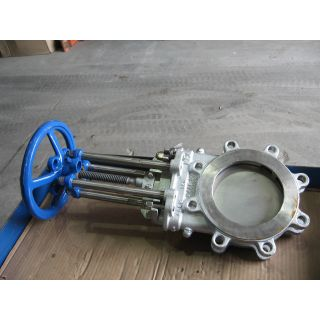 "KNIFE GATE VALVE - 6"" - NAQIP - MANUAL - METAL SEAT"