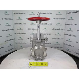 "FOR SALE - KNIFE GATE VALVE - 6"" - NAQIP - MANUAL - RESILIENT SEAT"