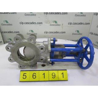 "KNIFE GATE VALVE - 4"" - TRUELINE - MANUAL - METAL SEAT"