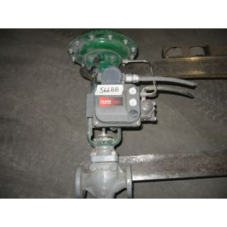 "USED GLOBE VALVE - FISHER - EZ - 1"" - 300 LB - FLG - FOR SALE"