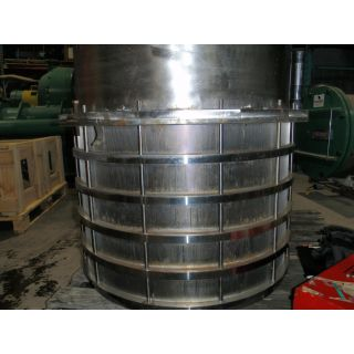 "BASKET SLOTTED 0.012"" - PRESSURE SCREEN BIRD - M-800 - MODEL: BRDM800/RRNO.25004P4C0 -  WITH 5 RINGS"