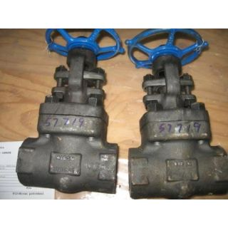 "GATE VALVE MANUAL - VELAN - 1.5"" NPT - STORE SURPLUS"