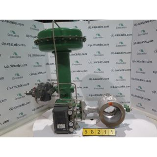 "V-BALL VALVE - FISHER V100 - 6"" - REFURBISHED"