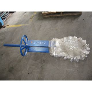 "KNIFE GATE VALVE - 16"" - TRUELINE - MANUAL - METAL SEAT"
